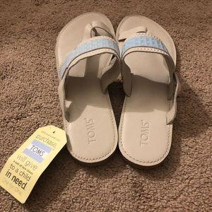 White flip flop  sandals
